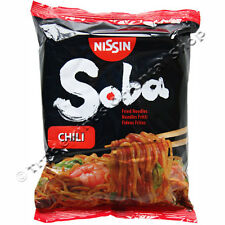 NISSIN SOBA JAPANESE FRIED NOODLES - CHILLI - 9 PACKETS