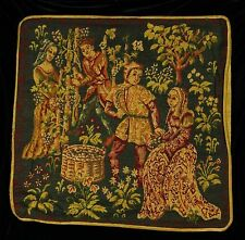 DECORATIVE PILLOW COVER Medieval Tapestry Throw Cushion COUPLES Sofa Scatter red