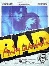 Affiche 120x160cm BAD ANDY WARHOL'S 1977 Carroll Baker, Perry King, Susan Tyrrel