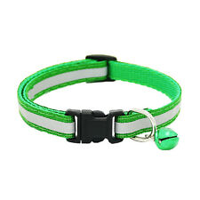 2Pcs Pet Puppy Cat Kitten Soft Glossy Reflective Collar Safety Buckle with Bell