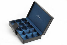 NEW JtC CUFFLINKS  RINGS  JEWELLERY EAR RINGS STORAGE BOX CASE ORGANISER LEATHER