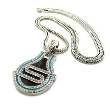 """NEW ICED OUT 50CENT """" STREET """" PENDANT & 36"""" 4mm FRANCO CHAIN.."""