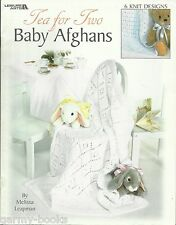 Tea for Two Baby Afghans Melissa Leapman Knitting Pattern Book Leisure Arts 3381