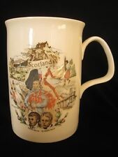 Vintage BALFOUR  Scottish Scenes Mug Cup SCOTLAND Bagpipes Sword Dance Castle