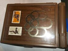 1976 MONTREAL OLYMPICS CANADA STAMP SET IN CASE FOR STORING  AIR MAIL STICKERS