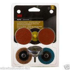 "3M  2"" Scotch Bright 03050 Grinding Disc Set Auto Body Repair Drill Sanding"