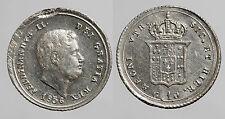 pci0070) Napoli 10 Grana 1856 con inconsueta battitura parassita sul bordo
