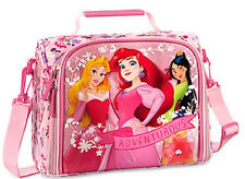 Disney Store Princess Aurora Ariel Mulan Lunch Box Bag Tote School PInk New 2016