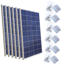 600 Watts Solar Panel  Bundle Kit:6pcs 100W & Z Mount Off Grid 12V Boat Hom