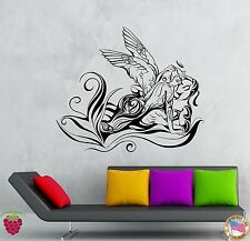 Wall Stickers Vinyl Decal KIssing Angel Love Romantic Flower Decor (z1955)