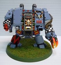 Warhammer 40k 40000 Space Wolves Space Marine Dreadnought Pro Painted Metal OOP