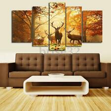 Forest Elk Wall Painting Canvas Art Print Picture Living Room Decor No Frame