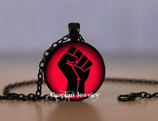 Black Power Black Panthers Red Fashion Pendant Necklace Top quality