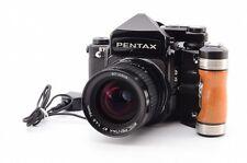 [NEAR MINT]Pentax 67 TTL / SMC Pentax 67 75mm f/4.5 / Grip / Buttery Code (620)