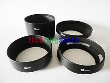 52mm standard telephoto wide angle vented curved metal lens hood kit set 4pcs