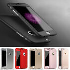Full Cover für iPhone 6s 6 Plus 5 5s SE 360° Schutz Hülle Bumper Case Panzerglas