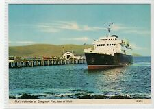 M.V. COLUMBA AT CRAIGNURE PIER: Isle of Mull postcard (C17656)