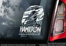 Lewis Hamilton - F1 Car Window Sticker - 'HAMMERTIME' -Mercedes Formula 1 - TYP2