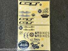 GT BMX Bike Bicycle Frame Stickers / Decals - Old School - Vintage - MTB - NEW