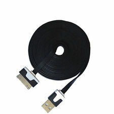 Black 2m Noodle Data cable sync for Apple iPod iPhone 4S 4 4G 3GSIpad 2,3