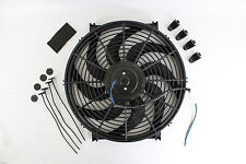 "New 14"" Heavy Duty Radiator Electric Wide Curved Blade FAN 3000 CFM Reversible"