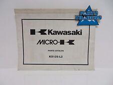 NOS Kawasaki Micro-K Parts Catalog KX125 KX 125 2000 00 99960-0089-01