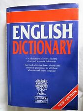 English Dictionary by Geddes & Grosset hardback new edition