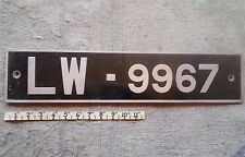 NIGERIA License Plate Tag 1970's,Low Shipping