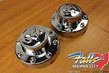 2011-2016 Dodge Ram 3500 Pair Of Rear Wheel Center Cap Hubcap Covers Mopar