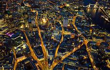 Incorniciato stampa-occupato BRIGHT LIGHTS Of London, England (PICTURE POSTER SCENIC ART)