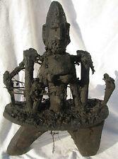 African Sgabello Feticcio DOGON / stool Fetish ritual '900 / XXth cm 43x30x16