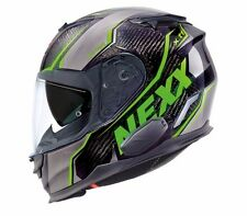 NEXX X.T1 Raptor Black Neon Green LARGE XT1 Carbon Motorcycle Helmet L (CLOSEOUT