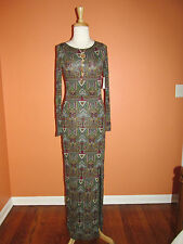 New Velvet by Graham & Spencer Size S Tribal Print Native Daniele Maxi Dress
