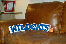 "KENTUCKY WILDCATS STUFFED PLUSH BASKETBALL SPIRIT NAME ""WILDCATS"" PILLOW 28"""