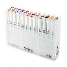 ShinHan Art TOUCH Twin Brush 36-Color Brush & Medium Broad Nib Marker Set NEW