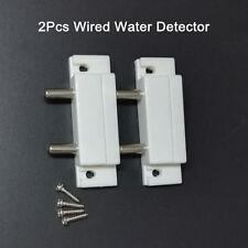 2x Water Sensor Alarm Water Leak Liquid Alert Overflow Wired Water Detector