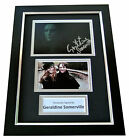 GERALDINE SOMERVILLE Signed A4 FRAMED Photo Autograph Display HARRY POTTER & COA