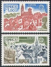 France 1977 Europa/Buildings/Fishing Boats/Church/Architecture 2v set (n33075)