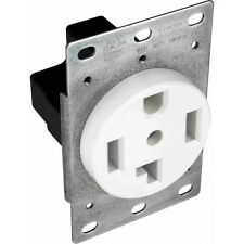 Orbit R30-4 30A 3 Pole 4-Wire 125/250v Dryer Receptacle - BLACK (shown in WHITE)