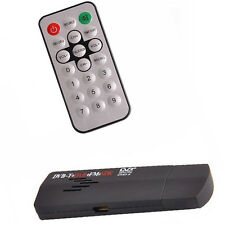 Set HDTV TV Tuner Receiver Stick RTL2832U+R820T2 USB2.0 Digital DVB-T SDR+DAB+FM
