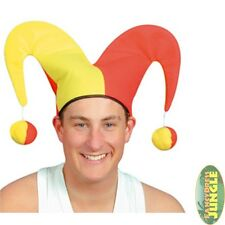 FUNNY JESTER CLOWN HAT CARNIVAL HALLOWEEN - fancy dress costume