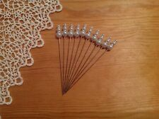10 pearl white hat pins , 9.5 cm , crafts, other colours available , good buy !