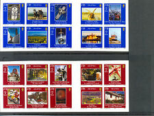 Isle of Man-Photography self-adhesive set of 20 complete in 2 booklets-mnh