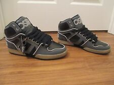 BNIB Size 12 Osiris NYC 83 ULT Shoes Charcoal Gray Black
