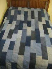 Recycled Denim Jeans Patchwork Quilt