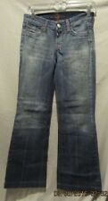 NEW 7 FOR ALL MANKIND ARGO FLARE LEG DENIM JEANS W/PATCH SZ 25 NWOTS $215 RETAIL