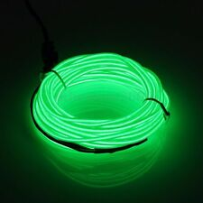 1/2/3/4/5M Led Flexible EL Wire Neon Glow Light + 3V/12V Controller Party Decor