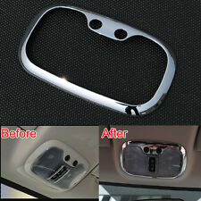 Front Chrome Roof Dome Reading Light Lamp Cover Trim For Compass Patriot 12-2014