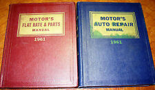 1961 61 Motors Manuals Repair Service & Parts List Set Packard DeSoto Chevy Jeep