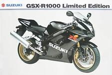 Suzuki UK sales brochure GSXR1000 GSXR1000K4 2004 model black ltd edition